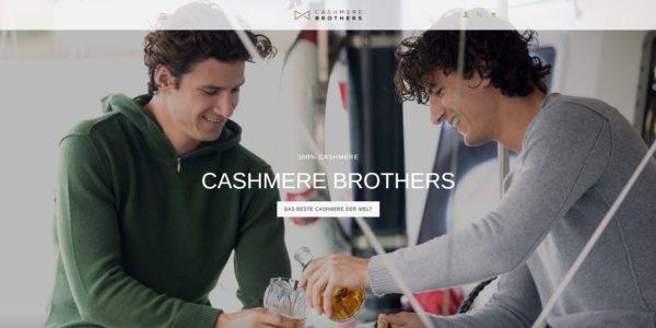 Projektbild 1: Sreenshot Hero Cashmere Brothers