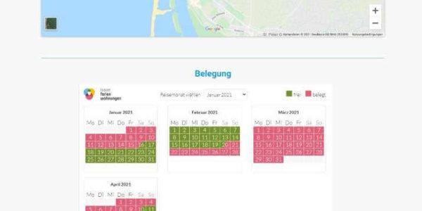 Screenshot Lage Belegung Kille-fewo.de